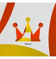 Crown paper modern design vector image