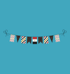 Decorations bunting flags for egypt national day vector