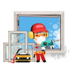 Dismantling the Old Window vector image