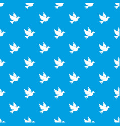 Dove pattern seamless blue vector