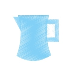 drawing pitcher water juicy kitchen icon vector image