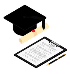 Education online testing e-learning concept vector