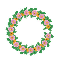 floral wreath flowers vector image