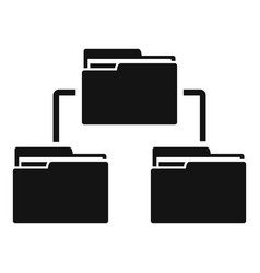 folder network icon simple style vector image