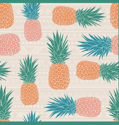 Folk tribal pineapples background vector