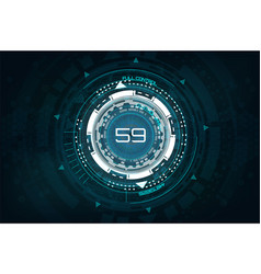 futuristic technology in hud style vector image