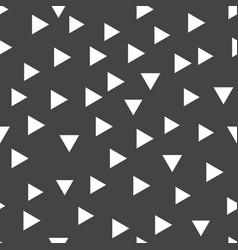 Geometric pattern with white triangles seamless vector