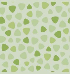 geometric spots seamless pattern fresh green vector image