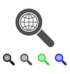 Global search flat icon vector