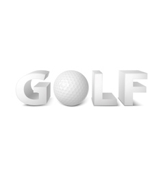 golf logo vector image