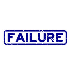 Grunge blue failure word square rubber seal stamp vector