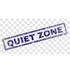 Grunge quiet zone rectangle stamp vector