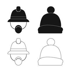Headwear and cap symbol vector