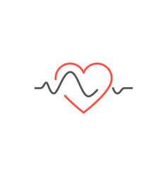 Heart beat line icon vector