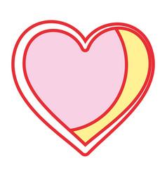 heart love symbol vector image