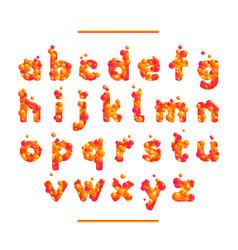 holiday orange font isolated on white bg vector image