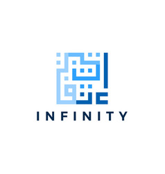 Infinity in kufic square arab arabic logo download vector