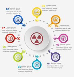 infographic template with warning sign icons vector image vector image