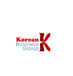 korean business group badge vector image