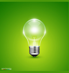 light bulb on background vector image