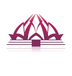 Lotus temple architecture vector image