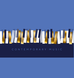 luxury gold and blue invitation for music concert vector image