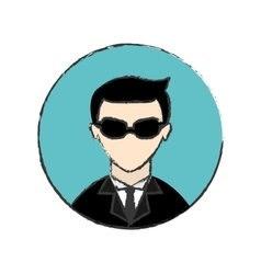 Male spy icon image vector