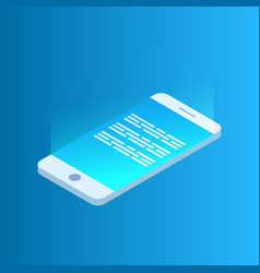 modern mobile phone or smartphone the concept of vector image