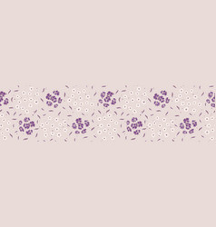 pretty tiny flower pansy blooms border seamless vector image