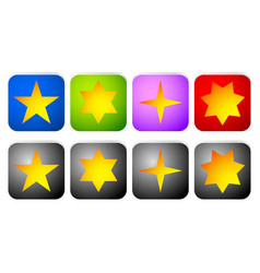rectangle star icons vector image