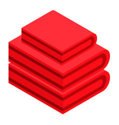 red clothes stack icon isometric style vector image