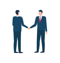 Representative characters shaking hands vector