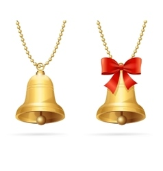 Ring Bells Hanging Chain vector image