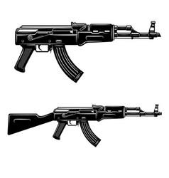 set assault rifle design element for logo vector image