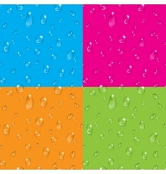 Set of transparent water drops seamless vector
