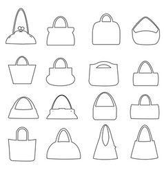 Shopping line icons set e-commerce and vector