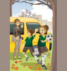 Soccer mom vector