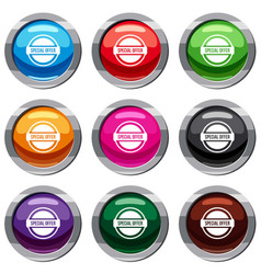 Special offer circle set 9 collection vector