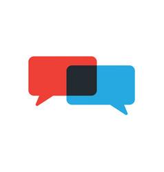 Speech bubbles chat icon message communication vector