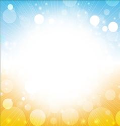 summer background - blur sky sun sea beach vector image