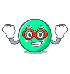 super hero circle character cartoon style vector image