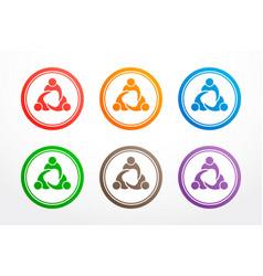 three people business icon set design vector image