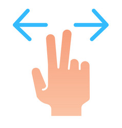 Two fingers resize flat icon enlarge vector