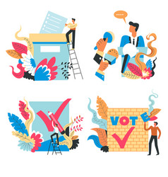 voting and president elections politician and vector image