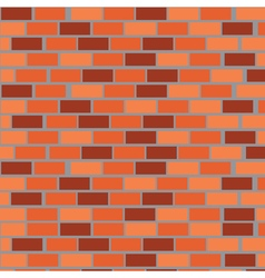 Wall of red bricks vector image