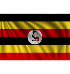 Waving uganda vector