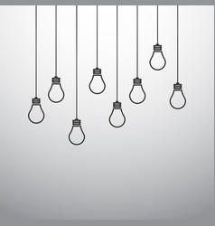 With hanging light bulbs vector