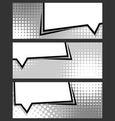 comic balloon horizontal blank banner grey vector image vector image