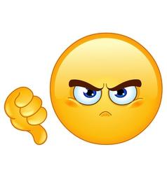 dislike emoticon vector image vector image