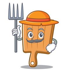 farmer kitchen board character cartoon vector image vector image